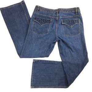 Harley Davidson Embellished Flap Pocket Jeans